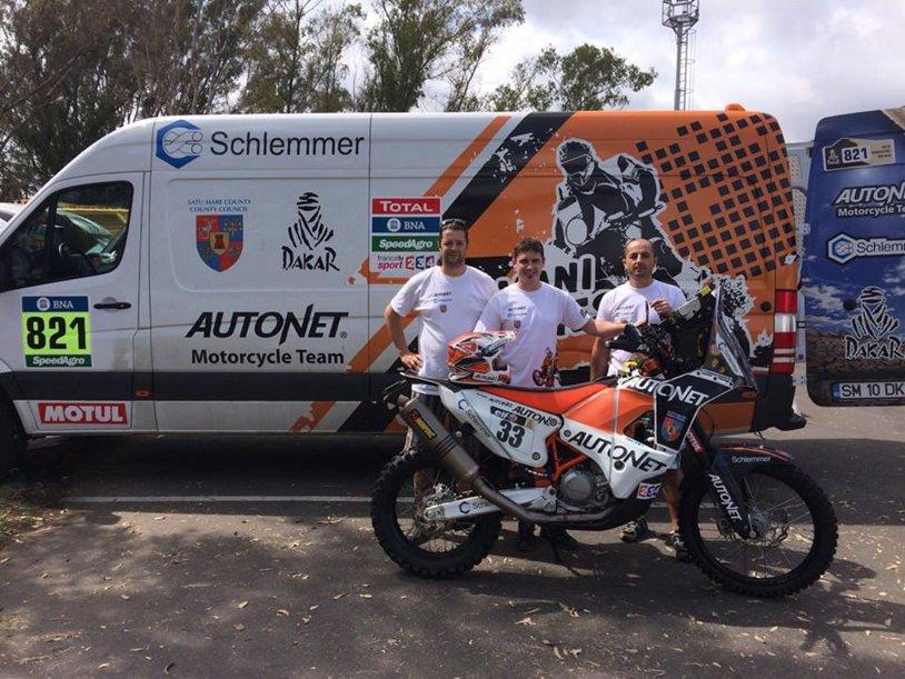 Emanuel Gyenes, locul 11 în etapa de vineri a Raliului Dakar, la clasa moto