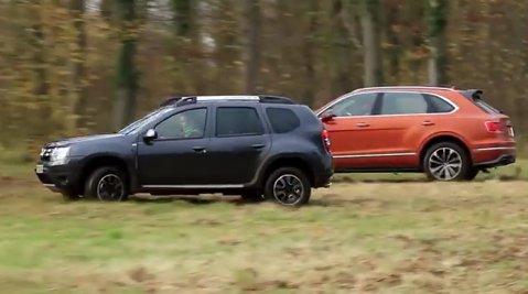 VIDEO | Dacia Duster vs. Bentley Bentayga - cel mai rapid SUV din lume. Cum s-a descurcat maşina noastră
