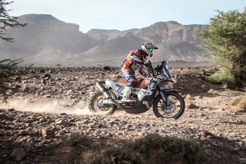Emanuel Gyenes s-a clasat pe locul 23 în etapa a treia a Raliului Dakar 2017, la clasa moto