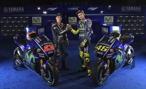 VIDEO | Valentino Rossi şi Maverick Vinales au prezentat prototipul Yamaha M1 pentru sezonul 2017