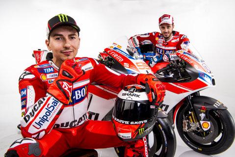 FOTO | Ducati şi-a prezentat motocicleta pentru 2017. Jorge Lorenzo şi Andrea Dovizioso sunt piloţii team-ului italian