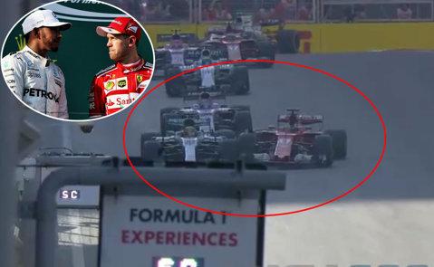 """Scandal MONSTRU în Formula 1, după ce Hamilton l-a şicanat pe Vettel, iar germanul a intrat intenţionat în britanic! """"Să rezolvăm problema faţă în faţă dacă e bărbat! E o ruşine!"""" Schimb dur de replici între campionii mondiali"""