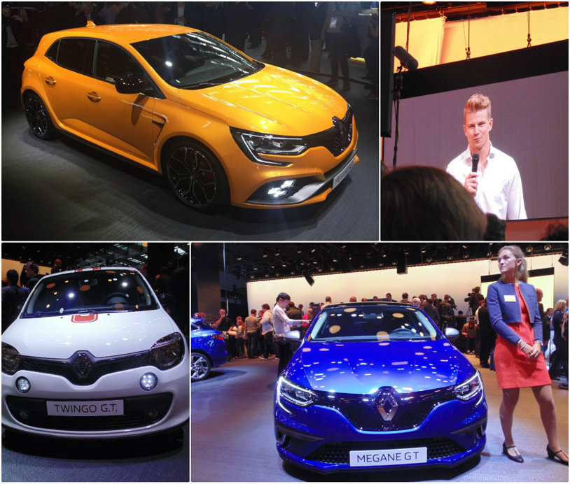 Piloţii de Formula 1 recomandă noul Renault Megane RS! Francezii au venit la Frankfurt cu tripleta Clio, Twingo, Megane, care de astăzi a trecut în gama sport