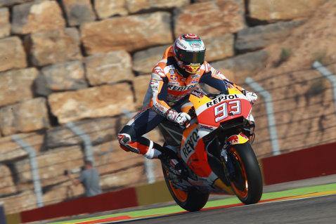 Marquez câştigă la Aragon şi e lider în MotoGP! Valentino Rossi, pe locul 5 la 24 de zile după fractura de tibie şi peroneu