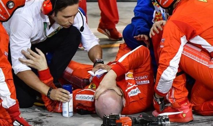 Verdictul medicilor în cazul mecanicului accidentat de Kimi Raikkonen în Bahrain