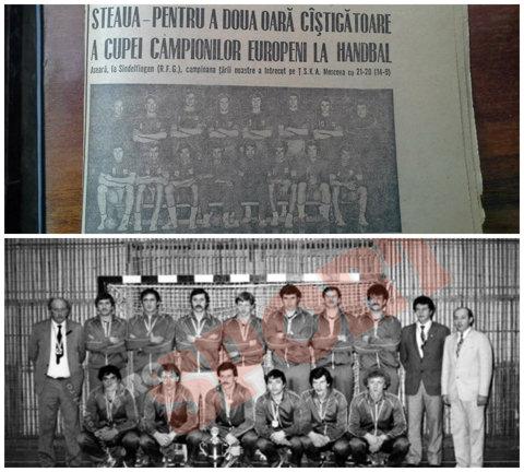 Săptămâna marilor trofee! 38 de ani de când Steaua a câştigat Cupa Campionilor Europeni şi 30 de ani de la Cupa IHF cucerită de Minaur. Poveşti de neuitat