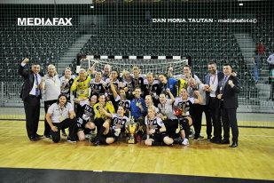 CSM Bucureşti a realizat tripla istorică Liga Campionilor - Liga Naţională - Cupa României