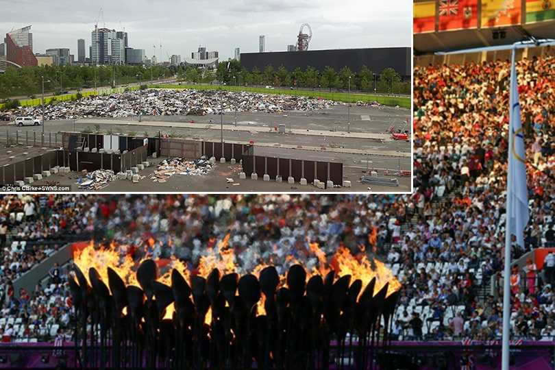 FOTO | Munţi de gunoaie, la câţiva metri de sala în care s-a jucat handbal la Jocurile Olimpice din 2012. Londra se revoltă!