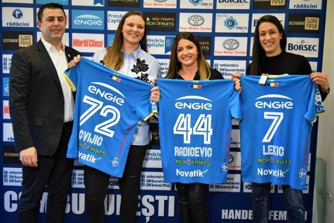 CSM Bucureşti a realizat trei mega-transferuri! Dragana Cvijic, Andrea Lekic şi Jovanka Radicevic au semnat cu campioana României