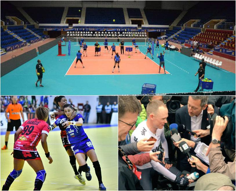 Trei evenimente fierbinţi în afara fotbalului care merită urmărite în acest weekend: turneul Final Four al Ligii Campionilor la volei feminin, finala Cupei EHF la handbal feminin şi startul Turului Italiei la ciclism