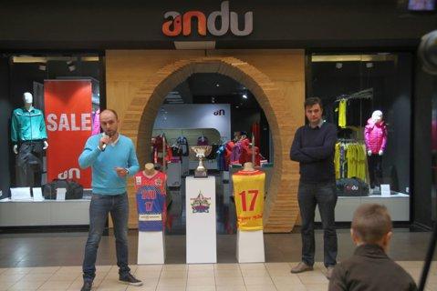 Trofeul Cupei României, expus la ANDU înainte de  All Star Game-ul masculin