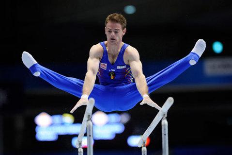 Echipa masculină de gimnastică a României, locul 2 la triunghiularul de la Obersiggenthal