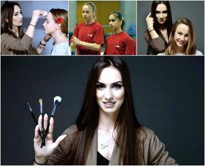 VIDEO REPORTAJ | Fostă campioană europeană la bârnă, acum make-up artist valoros. Alina Stănculescu a făcut o demonstraţie a talentului său pe prietena şi colega Sandra Izbaşa, în studioul ProSport