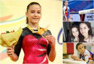 """""""Regina"""" din Bustuchin preferă bârna în locul tocurilor. Andreea Munteanu, campioana europeană la bârnă, a prins lotul României în ultima clipă şi are o soră geamănă, tot gimnastă"""