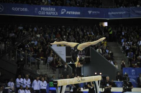 Peste Nadia Comăneci! Cătălina Ponor a devenit cea mai medaliată gimnastă din România la Campionatele Europene. Cum a gestionat finala de la bârnă, din punct de vedere al emoţiilor