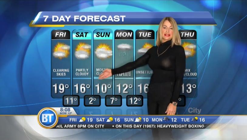 VIDEO | Vremea meteo prezentată de...Nadia Comăneci! Zeiţa de la Montreal a făcut spectacol la un post de televiziune din Canada