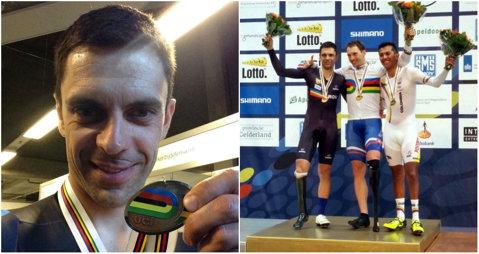 Încă o medalie pentru preşedintele Federaţiei Române de Ciclism! Eduard Novak a devenit vicecampion mondial la paraciclism în proba de 4 kilometri contratimp de la Apeldoorn