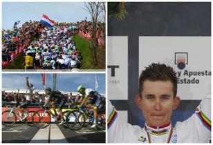 """Curcubeu în Amstel Gold Race. Campionul mondial Michal Kwiatkowski a câştigat cea mai importantă cursă de o zi din Olanda. Australianul """"Bling"""" Matthews a ratat cu poarta goală!"""