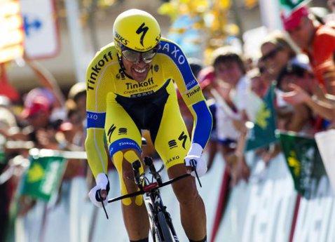 Carnagiu la contratimpul de 60 de kilometri din Giro! Contador, din nou în roz, după ce şi-a spulberat rivalii. Aru a pierdut aproape trei minute. Ţvetcov, locul 53, după ce a căzut, dar a terminat mai bine decât Richie Porte