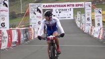 VIDEO | Filmul primei etape la Carpathian MTB Epic 2017: doi slovaci încadrează reprezentantul României pe podium, la Elite masculin. Clasamentele celor cinci categorii de concurs