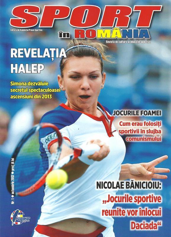 """Revista """"Sport în România"""" se lansează cu Simona Halep"""