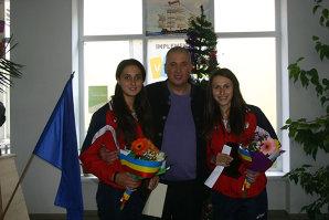 Medaliate cu aur la Jocurile Olimpice ale Tineretului, canotoarele Tîlvescu şi Popescu au luat caimacul în 2014 în judeţul care excelează prin sporturile nautice