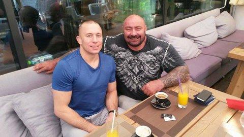 Campionul UFC George Saint-Pierre a filmat în România! S-a întâlnit cu Sandu Lungu şi i-a dat sfaturi pentru gala Real Xtreme Fighting de la Cluj-Napoca