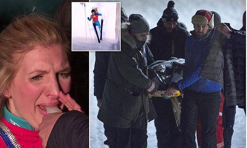 """VIDEO Accidentare cumplită suferită de o campioană olimpică la înot într-un show TV! Momentul în care braţul i-a """"sărit"""" din umăr"""