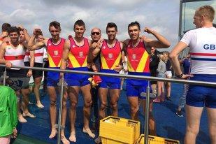 Aur mondial la canotaj! Juniorii din echipajul de 4 rame s-au clasat pe primul loc la CM de la Rotterdam, cu un nou record mondial