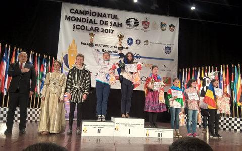 Ieşeanca Miruna Lehaci, campioană mondială şcolară la şah. Competiţia organizată la Iaşi a găzduit 600 de sportivi din 41 de ţări
