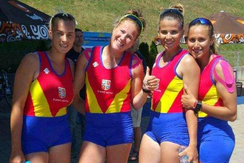 Prima medalie la Europenele de canotaj: AUR în proba feminină de patru rame