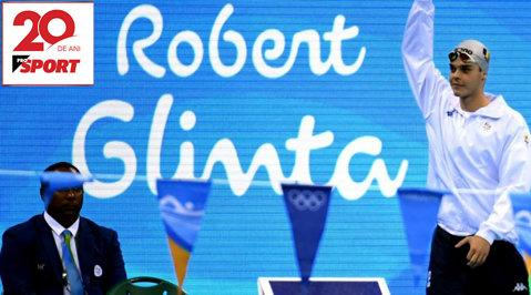 #20pentru20 | A luat prima medalie la fluture, dar a ajuns un spatist cu record mondial. A pierdut şirul recordurilor şi nu mai ascultă muzică în căşti. De ce nu îl pune pe Phelps pe lista modelelor şi motivul pentru care Robert Glinţă, înotătorul #1 al României, merge din finala olimpică la Colegiu în SUA