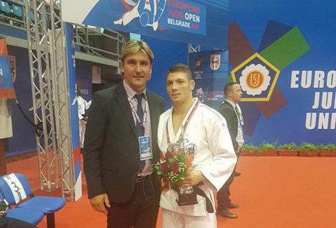 Medalii de aur la Open-ul de Judo din Belgrad! Marcel Cercea şi Alexandra Pop au urcat pe cea mai înaltă treaptă a podiumului