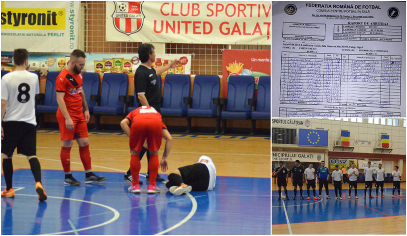"""Futsalul, batjocorit! Bolnavii închipuiţi de la Informatica Timişoara şi-au trimis juniorii să simuleze accidentări la Galaţi. """"Cădeau după duel umăr la umăr şi se văitau de dureri la gleznă"""""""