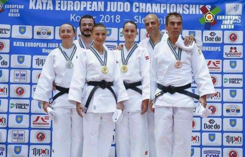 PERFORMANŢĂ | România a cucerit o medalie de aur la Europeanul de judo kata
