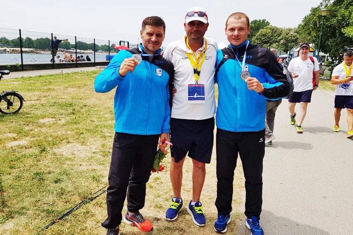 AUR european la kaiac-canoe! Leonid Carp şi Victor Mihalachi au câştigat titlul continental la canoe dublu - 500 de metri