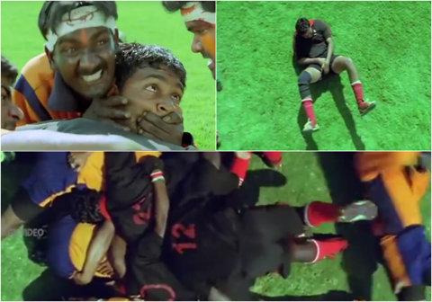"""VIDEO DE OSCAR :) Cel mai tare clip pe care îl poţi vedea astăzi! Cum se """"joacă"""" rugby la Bollywood"""