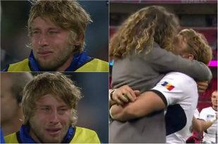 Şi bărbaţii plâng câteodată! VIDEO IMPRESIONANT   Lacrimile lui Surugiu au făcut înconjurul lumii după victoria istorică a României
