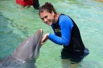 FOTO: Sorana Cîrstea a înotat cu delfinii la Miami. Ivanovic a însoţit-o