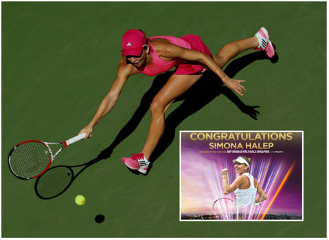 Simona Halep, felicitată de WTA pentru calificarea la Turneul Campioanelor printr-o infografie specială: 61.849 de kilometri parcurşi şi 6 rezultate de pus în ramă