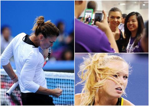 Finala WTA de la Singapore: Wozniacki are coşmaruri, Halep şi Bouchard au făcut echipă pentru copiii bolnavi. WTA-ul o laudă pe Simona pentru prestaţia din afara terenului