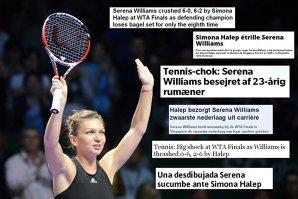 """Românca Simona Halep, lăudată din toate colţurile lumii. Daily Mail: """"Simona o distruge pe Serena"""". Reacţii din SUA, Singapore şi Italia"""