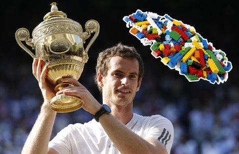 Evenimentul la care părinţii au intrat gratuit, pe biletul copiilor. Andy Murray a fost vedeta zilei: portret din 46.000 de piese Lego | FOTO