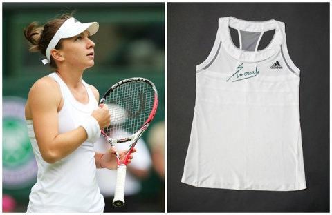 Simona Halep îşi scoate la licitaţie tricoul cu care a jucat semifinala de la Wimbledon. Banii vor fi donaţi în scopuri caritabile