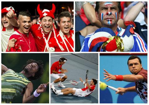 FINALA CUPEI DAVIS | Tsonga, nemulţumit de public. Wawrinka cere credit din partea francezilor. Federer dă mai mult vina pe zgură, decât pe accidentarea la spate. Monfils, singurul fericit