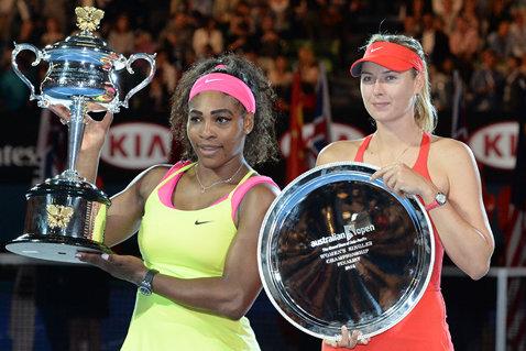"""Şarapova, după finala pierdută la Australian Open: """"O felicit pe Serena, este o onoare să joc împotriva ei"""""""