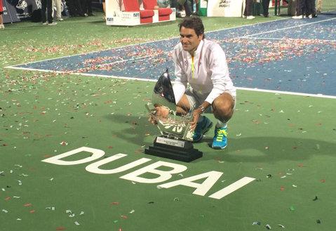 """Aşa a început seria lui Federer la Dubai, turneul care îi aminteşte de competiţiile pe iarbă: """"Am simţit că am ceva de demonstrat"""""""
