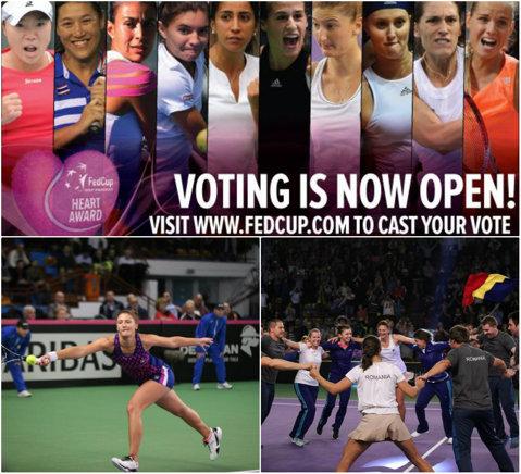 """Toate voturile pentru Irina Begu, eroina zilei a doua a partidei de Fed Cup, România-Spania! Trei zile de vot intens pentru trofeul """"Heart Awards"""""""