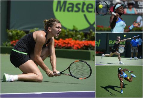 American job! Simona Halep a distrus-o pe Sloane Stephens şi s-a calificat în semifinale la Miami. Urmează meciul anului, împotriva Serenei Williams