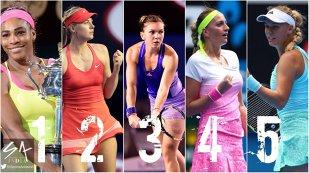 ANALIZĂ | Tenis fierbinte pe covorul roşu. Un nou episod din bătălia Simonei cu Şarapova şi Serena. Ce jucătoare se mai pot strecura în lupta pentru turneele pe zgură